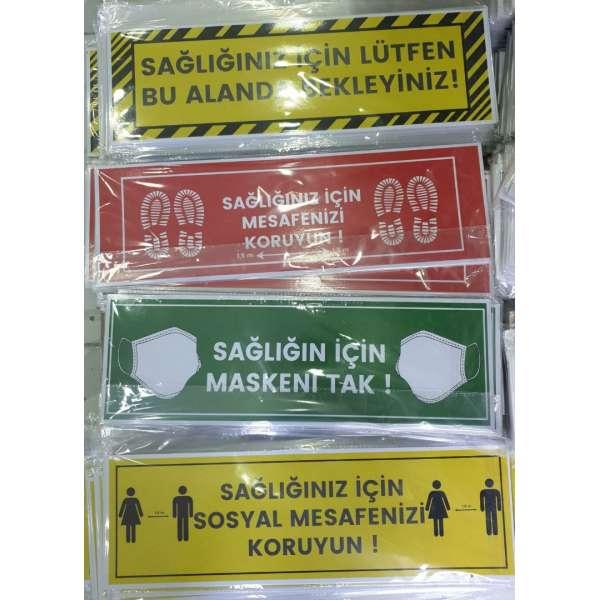 Sosyal Mesafe Stickeri Uzun 16x50cm *10