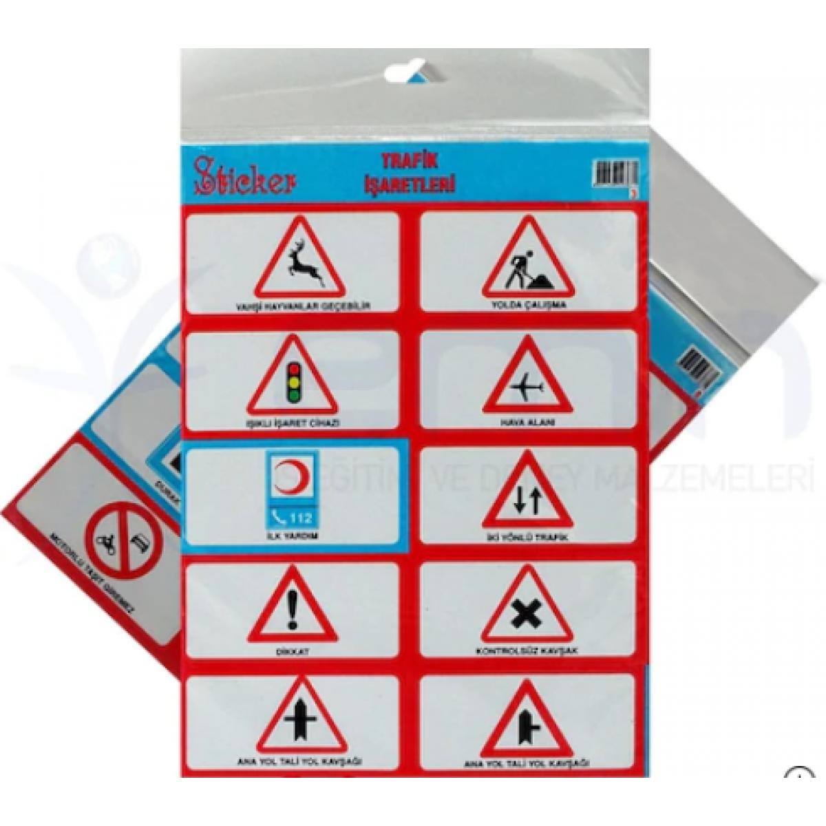 Trafik Isaretleri Buyuk Sticker 8
