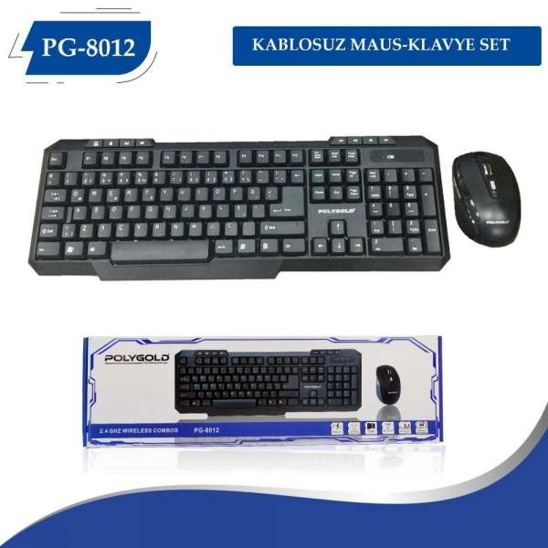 Poly Gold Pg-8012 Usb Kablosuz Klavye Mouse Set