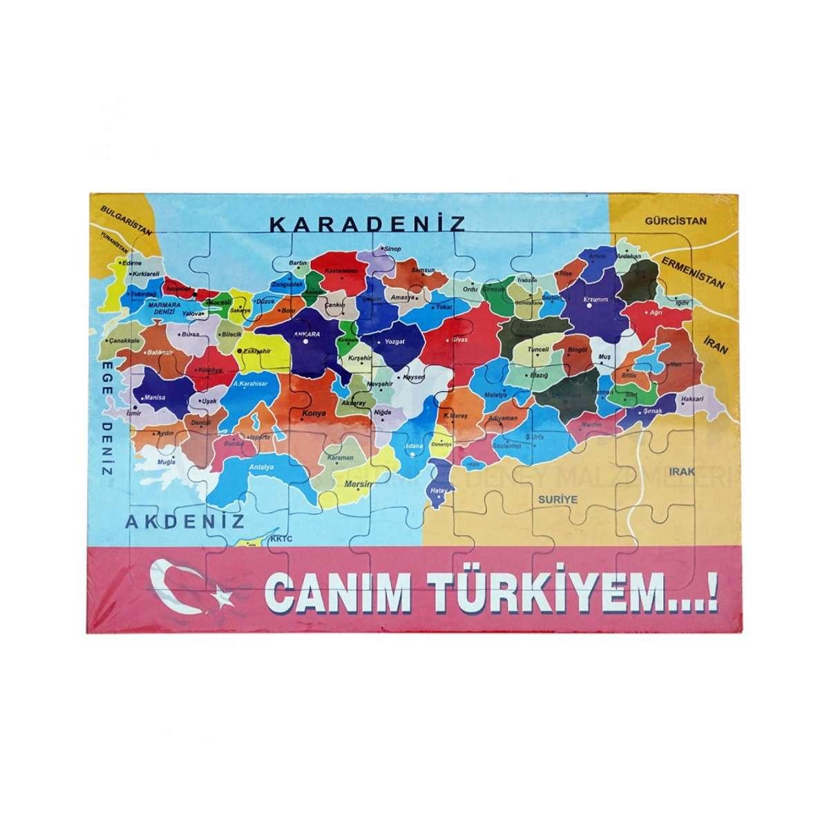 Turkiye Haritasi Puzzle Pazil 10