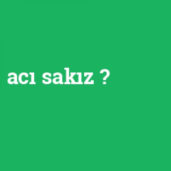 ACILI SAKIZ - 100'LÜ