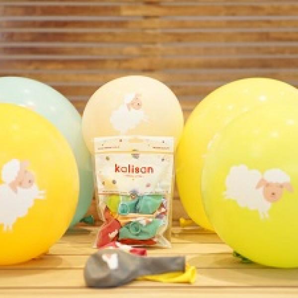 Hazır Baskı Balon Renkli Kuzucuk