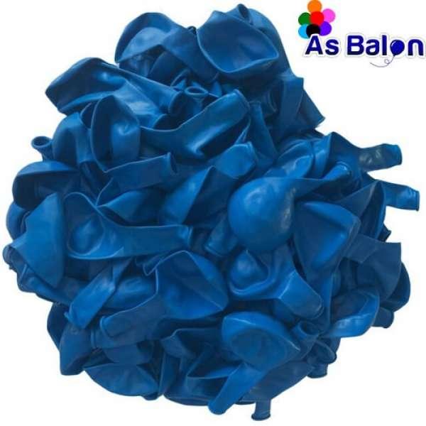 """Pastel Balon 12"""" As Balon Koyu Mavi"""